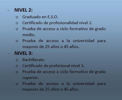 requisitos alumnos