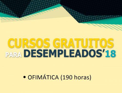 CURSO GRATUITO DE OFIMÁTICA PARA DESEMPLEADOS