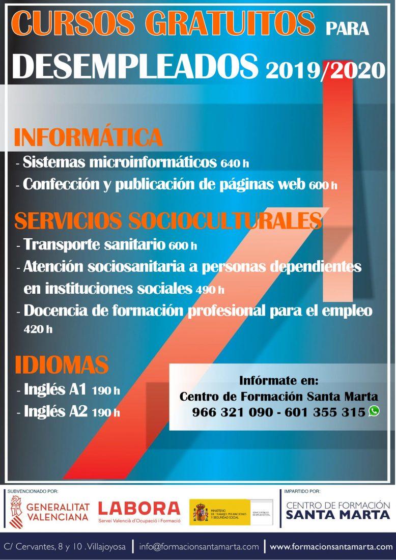 Listado Definitivo De Cursos Para Desempleados Formacion Santa Marta
