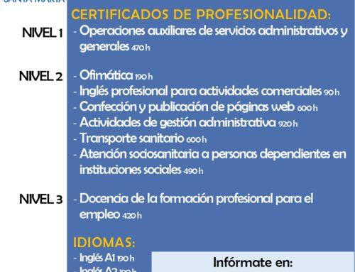 CURSOS DESEMPLEADOS 2021/2022 (previsión de cursos)